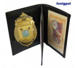 INTERNATIONAL POLICE BADGE & WALLET BOOK STYLE