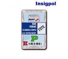 US MARSHALLS SERVICE CUSTOM ID CARD