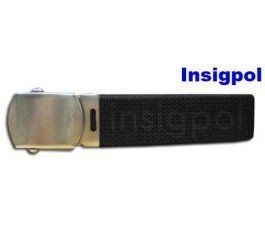 MILITARY WITH 3 CM METAL BUCKLE BLACK BELT