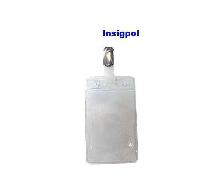 VERTICAL TRANSPARENT PLASTIC CREDENTIAL HOLDER