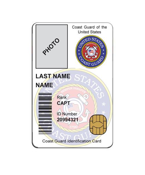 EEUU COAST GUARD ID CARD