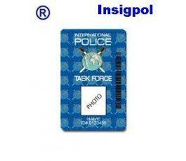 INTERNATIONAL POLICE CUSTOM ID CARD