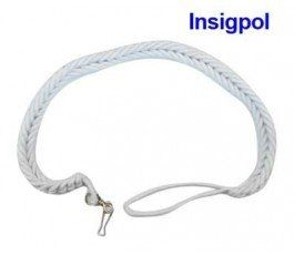 WHITE WHISTLE CORD FOR SECURITY GUARDS