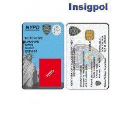CREDENCIAL DETECTIVE POLICÍA NUEVA YORK NYPD