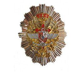 THREE SPANISH MILITARY FORCES  BADGE