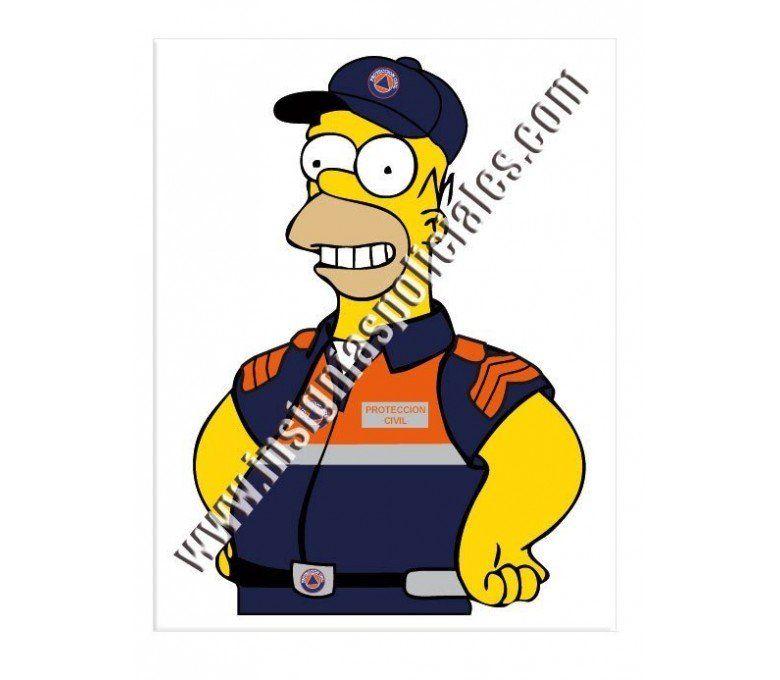 homer-proteccion-civil-sticker