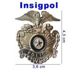 AMERICAN POLICE HAT BADGE