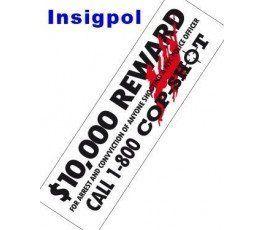 adhesivo-coche-10,000-reward-policía-nueva-york