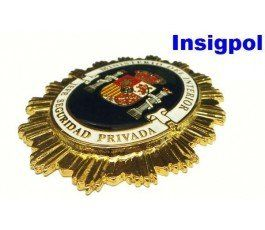 SPANISH PRIVATE CHIEF SECURITY GUARD BADGE