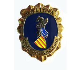 PLACA INSIGNIA GORRA POLICÍA COMUNIDAD VALENCIANA