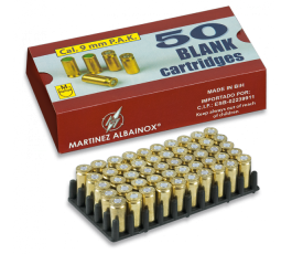 BLANK AMMUNITION CAL. 9 MM  (BOX 50 UNITS)