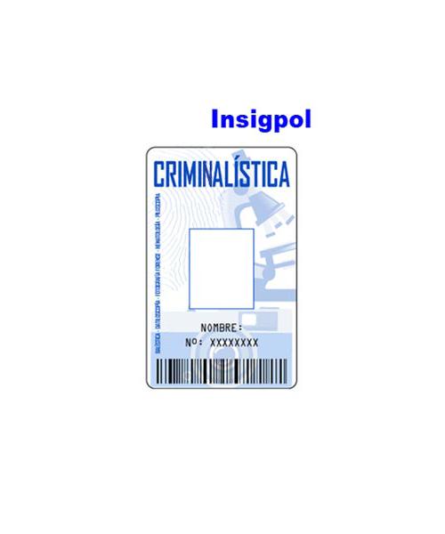 CREDENCIAL CRIMINALÍSTICA