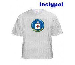 CAMISETA CIA BLANCA A4. Camiseta con emblema de lo CIA.