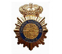 NATIONAL SPANISH POLICE HAT BADGE