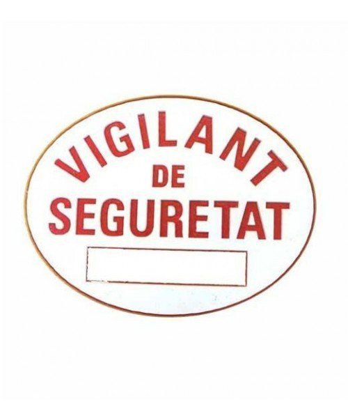 Catalan private security official patch