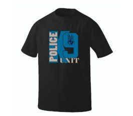 BLUE DOG K-9 UNIT BLACK T-SHIRT