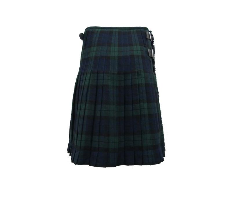 Kilt escocés de lujo para hombre - Tartán Black Watch - UK48 (122 cms)
