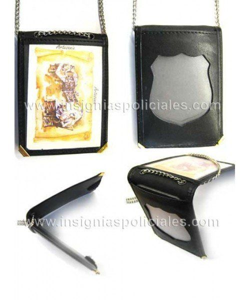 CATALONIA POLICE BADGE & IDCARD LEATHER HOLDER